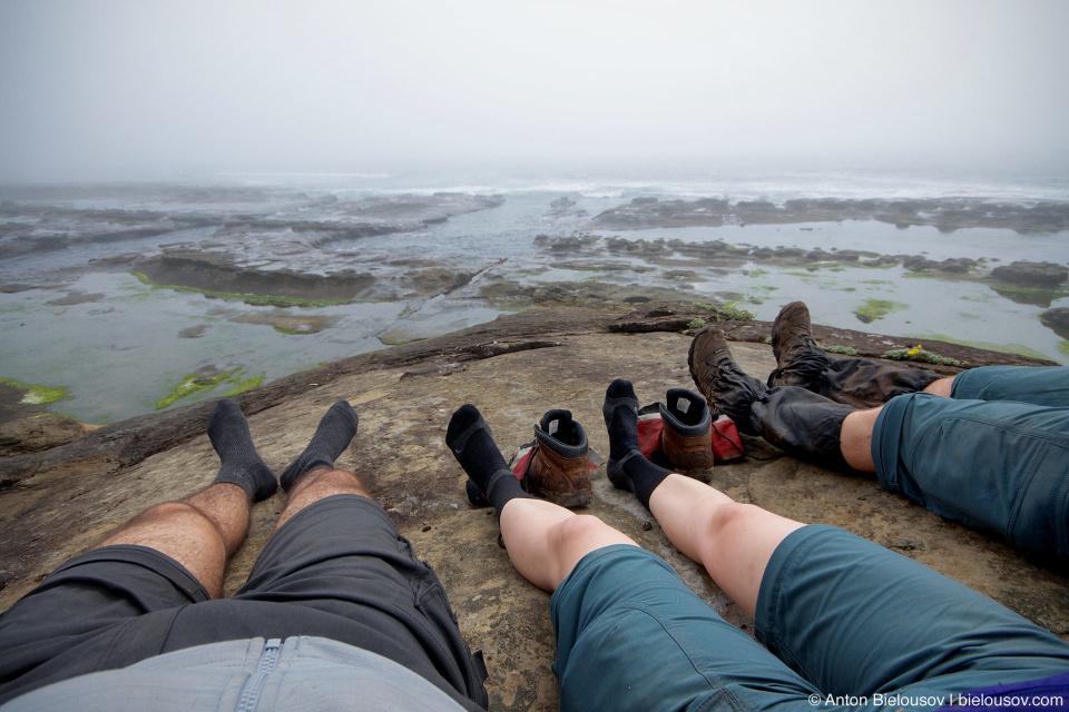 В ожидании отлива (West Coast Trail, 66 km)