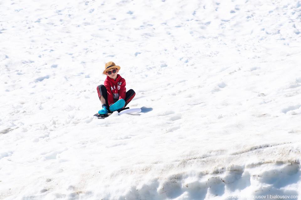 Снег на горе Baker Mountain, WA
