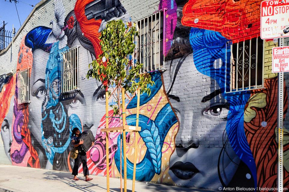 Los Angeles Art District mural