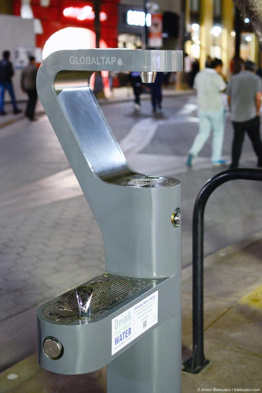 Tap water (3rd St. Promenade, Santa Monica, CA)