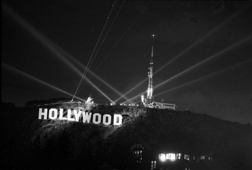 Открытие восстановленного знака Голливуд 11 ноября 1978 года