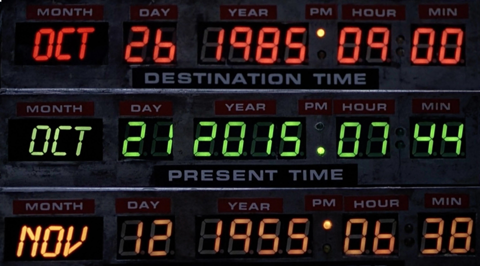My son was born on the Back to the Future date: October 21, 2015