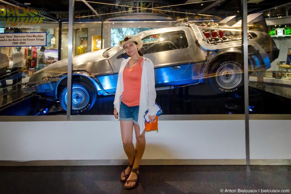 Original DeLorean in Universal Studios museum (Hollywood, CA)