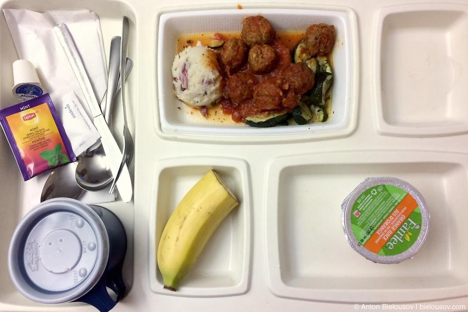 Ужин в родильном отделении госпиталя St. Paul's в Ванкувере