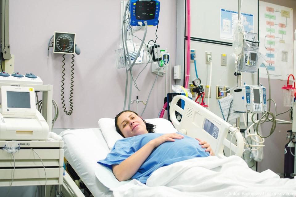 Индивидуальная палата в родильном отделении госпитали Святого Пола (St. Paul's Hospital, Vancouver, BC)