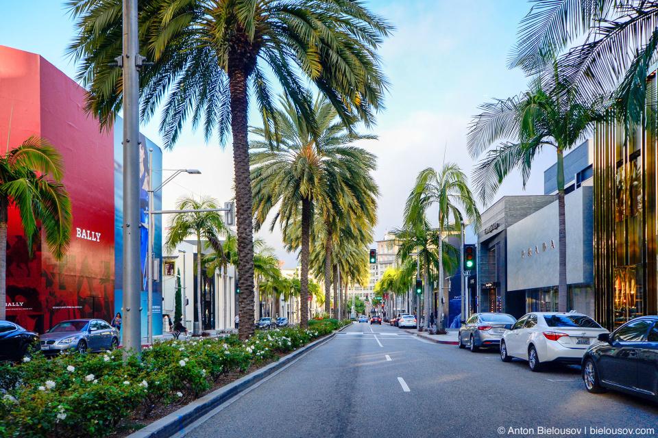 Бутики на Rodeo Drive, Beverly Hills, CA