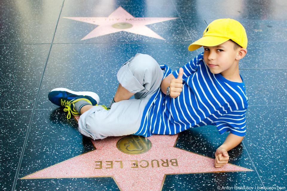 Аллея Славы, Голливуд: Здвезда Брюса Ли