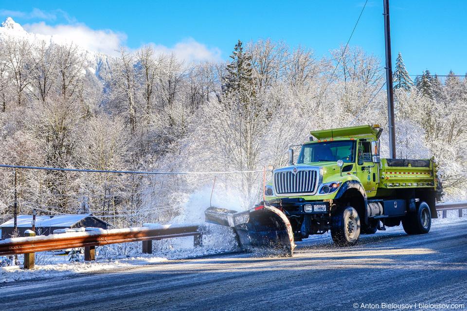 Снегоуборочная машина (США, штат Вашингтон)
