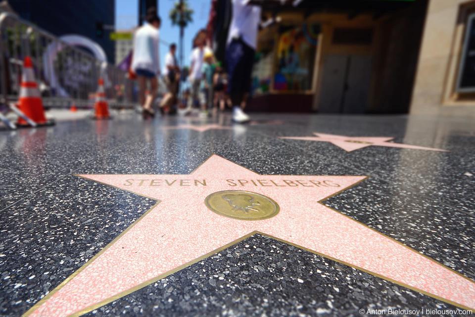 Аллея Славы в Голливуде: Звезда Стивена Спилберга