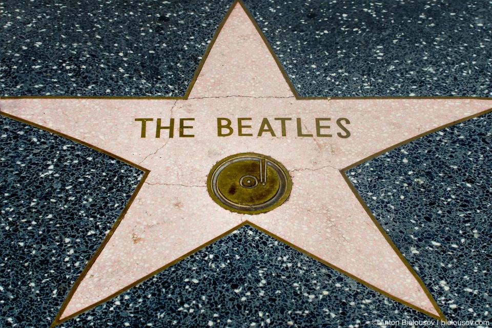 Звезда Битлз на Аллее Славы в Голливуде