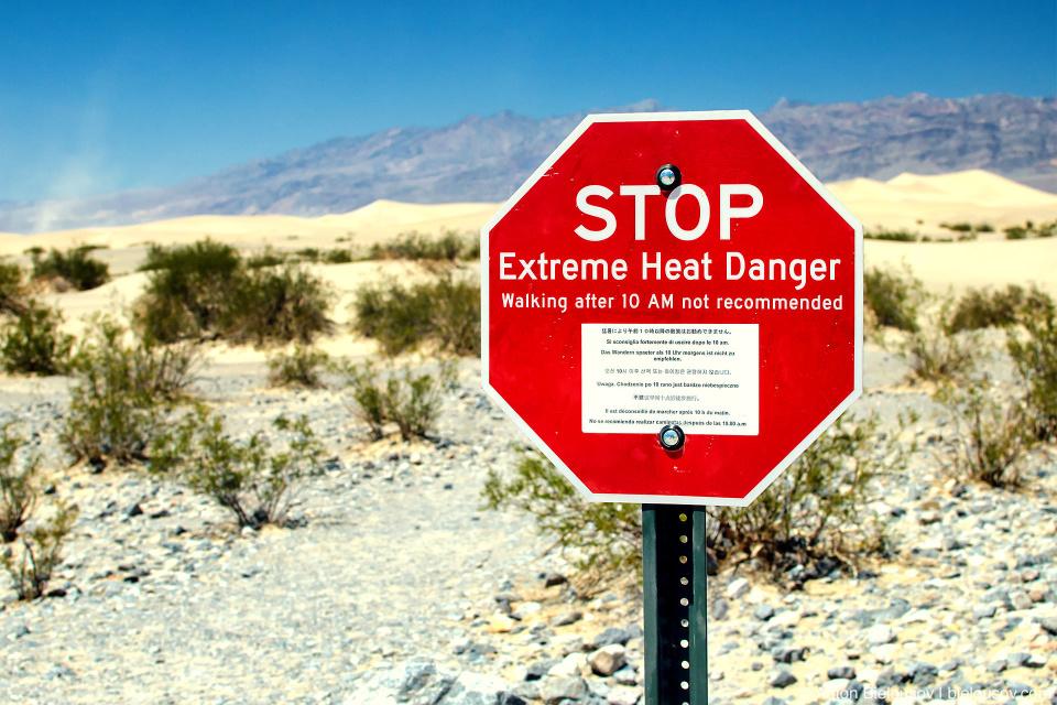 Extreme Heat Danger sign, Death Valley