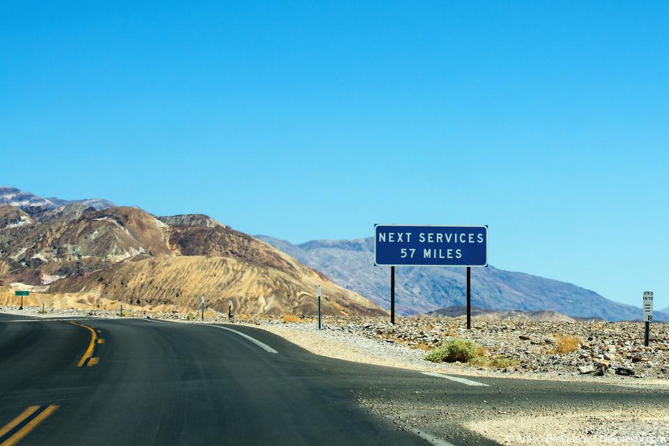 Долина Смерти. Следующая заправка — через 57 миль
