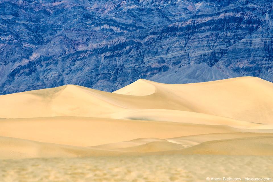 Песчаные дюны в Долине Смерти