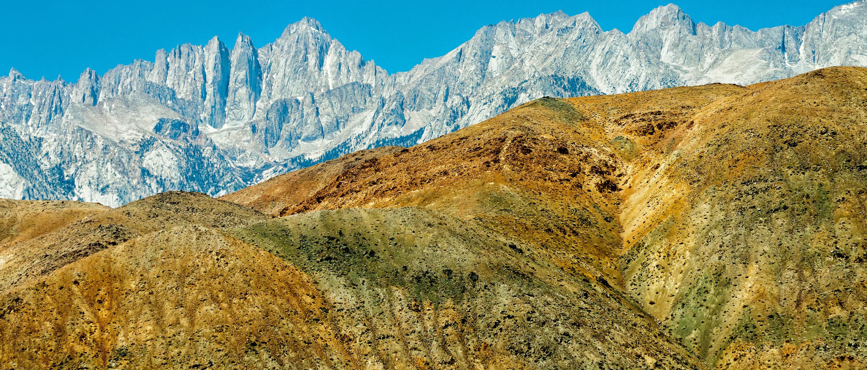Mount Whitney in Sierra Nevada range