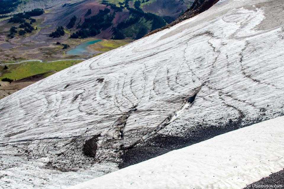 Ледник на горе Black Tusk