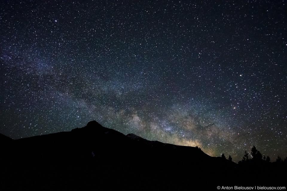 Млечный путь на высоте 3км (Yosemite National Park)