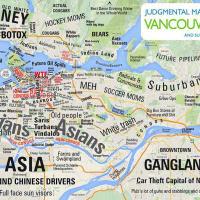 Немного о стереотипах районов Ванкувера на карте