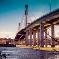 Port Mann — самый широкий в мире мост (65 м) до открытия моста  Bay Bridge в Калифорнии в 2013 году