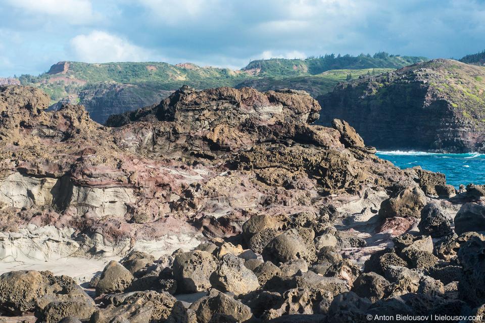 Basalt pillows at Nakalele Blowhole (Maui, HI)