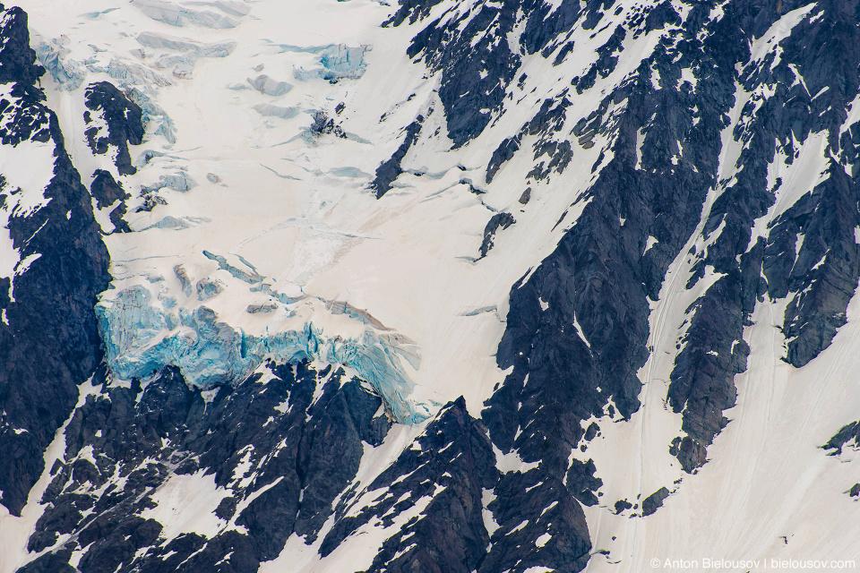 Ледник на горе Baker Mountain, WA