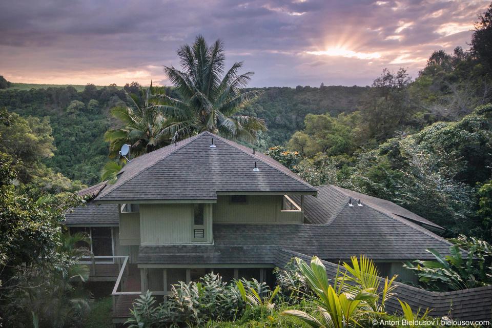 В то время как многие снимают квартиру или номер в гостинице поближе к морю, отправной точкой для нас стал этот дом в джунглях, снятый на VRBO, который сам по себе может считаться приключением.
