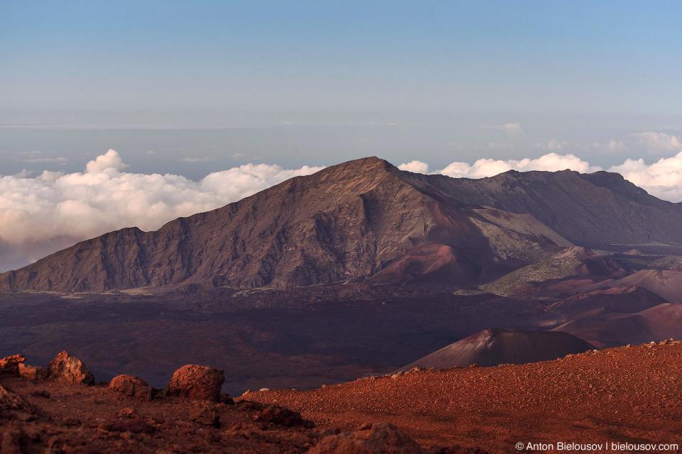 Haleakala Crater landscape at sunset (Maui, HI)