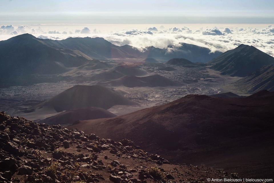 Кратер Халеакалы на рассвете (Maui, HI)