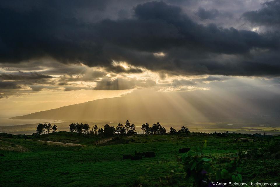 Вид на вулкан Пуу-Кукуи с дороги на Халеакалу
