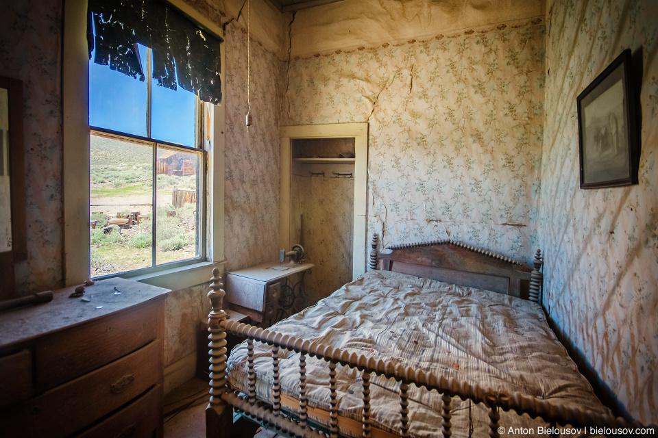 Bedroom interior, Bodie, CA