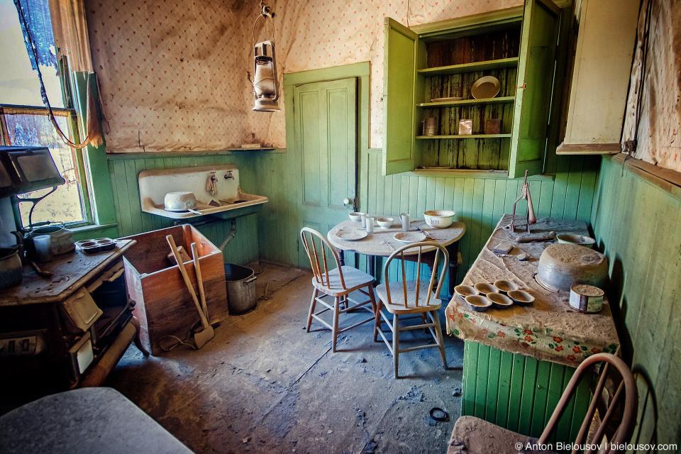 Kitchen interior, Bodie, CA