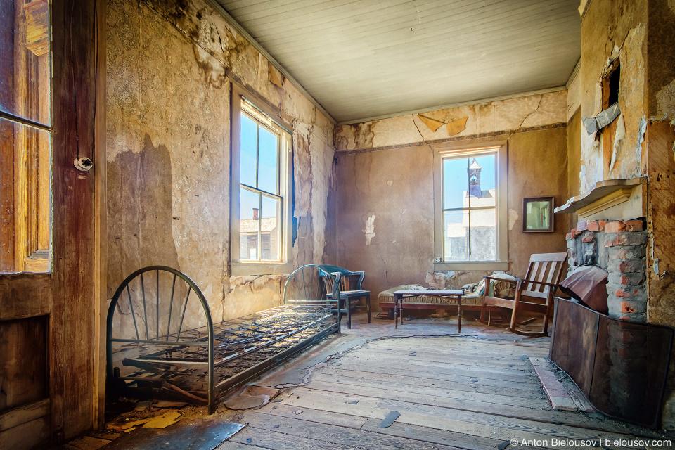 Living room interior, Bodie, CA
