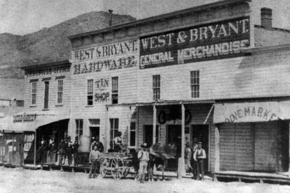 Horse and wagon on Main Street, Bodie, Ca, 1880. Photo by R.E. Wood