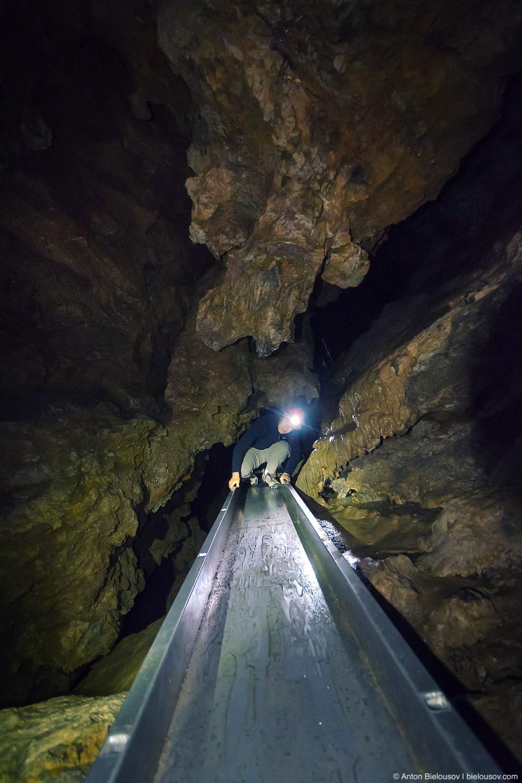 Horne Lake Main Cave Chute (Vancouver Island, BC)