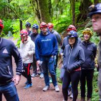 Дальше — 60 км на север от Нанаймо (Nanaimo, BC) и совсем неглубоко в лес с шоссе, к домику рейнджеров, где можно выбрать один из групповых или персональных туров.