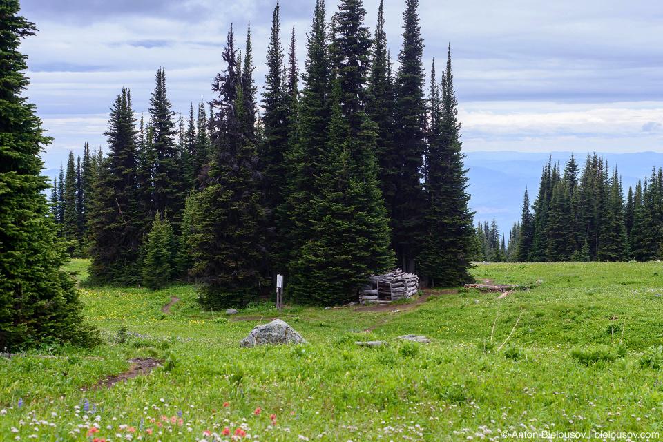 Пастуший домик в горах, Trophy Mountain (Wells Gray Provincial Park, BC)