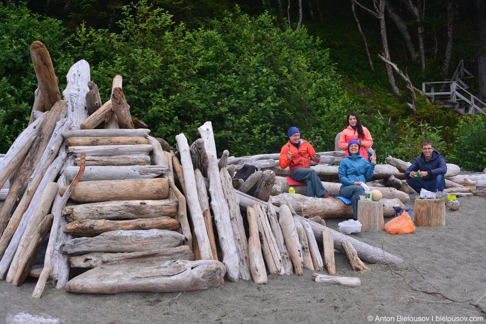 Завтрак на пляже (Pacific Rim National Park, Vancouver Island)