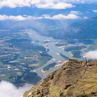 Fraser valley view from Cheam Peak