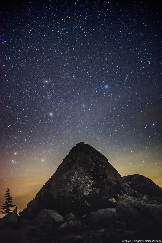 Ночное небо на пике (Nikon D800 + Nikon AF-S 35mm f/1.8 G DX)