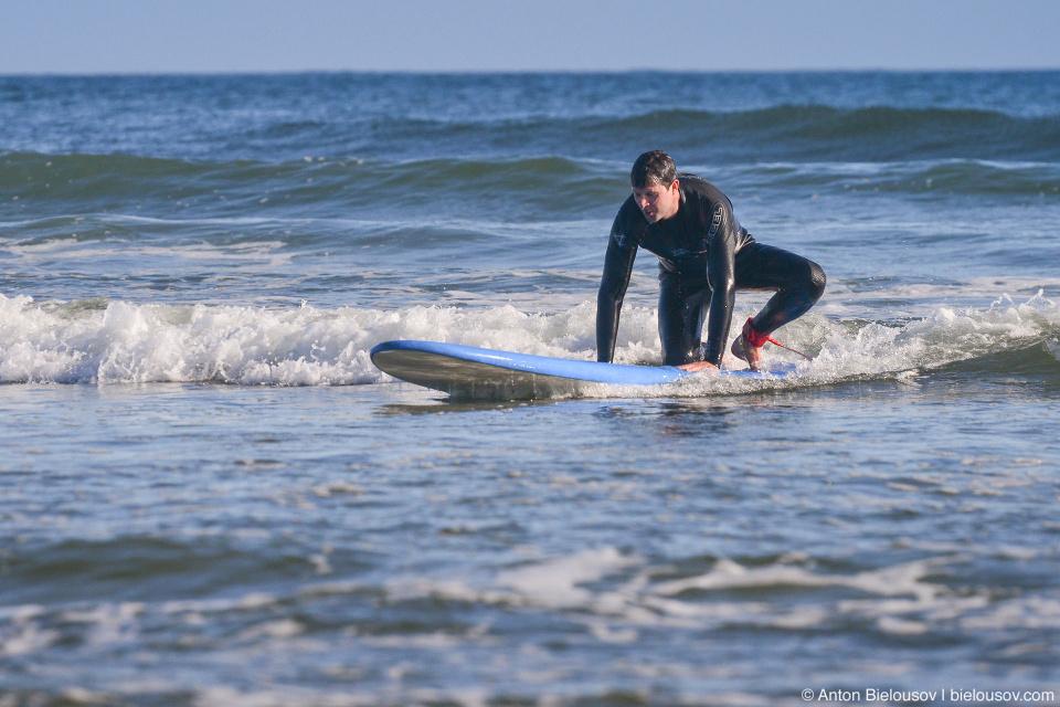 Soft-top surf board