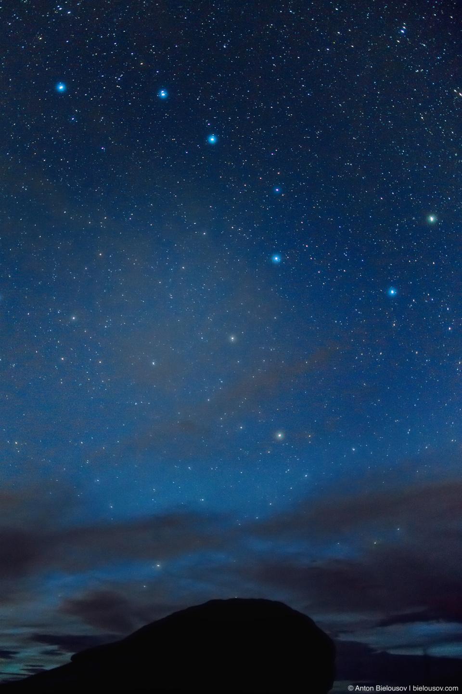 Ночь на пике: созвездие большой медведицы