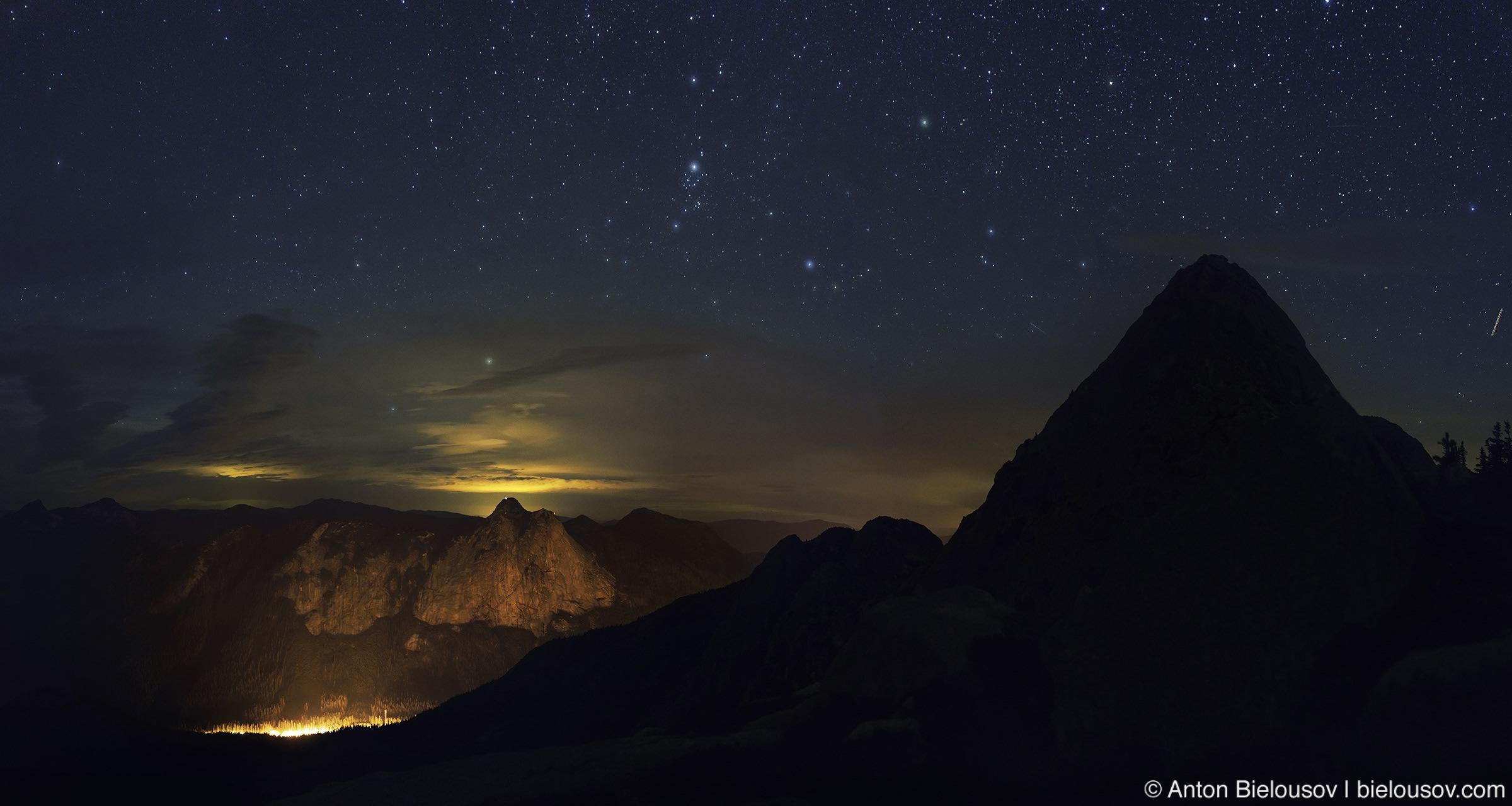 Вид на долину с ночного пика (Nikon D800 + Nikon AF-S 35mm f/1.8 G DX)