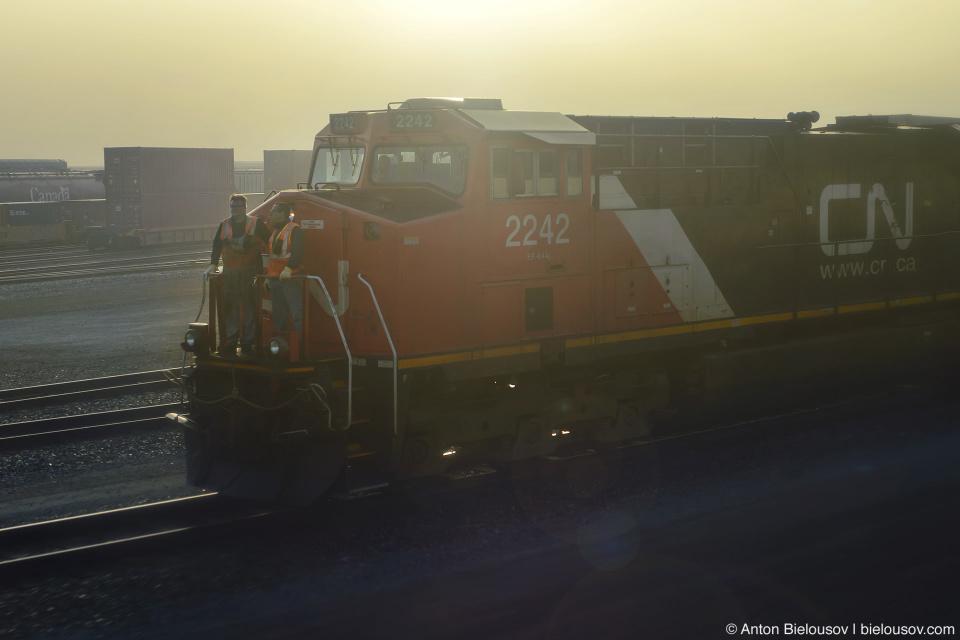 Туманное утро на станции Порт-Коквитлама