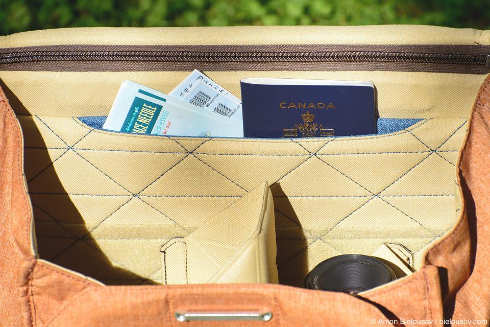 Peak Design Everyday Messenger Bag Passport and Boarding Passes Compartment
