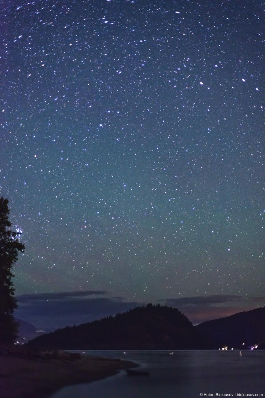 Stars over Copper Island on Shuswap Lake