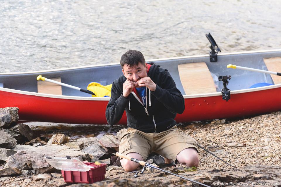 Kayaking and Fishing at Copper Island on Shuswap Lake, BC