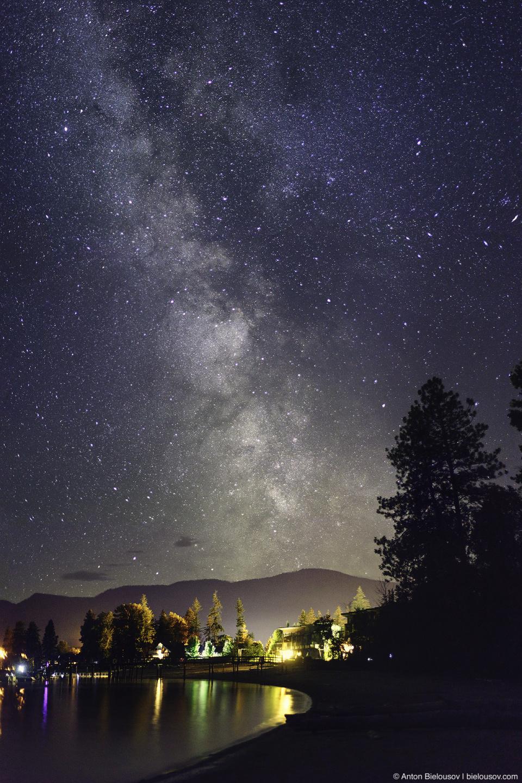 Milky Way over Shuswap Lake