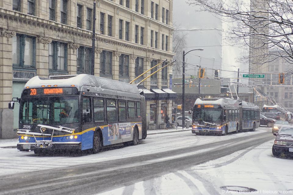 Translink: Снегопад в Ванкувере