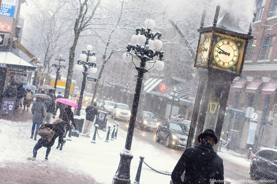 Снегопад в Ванкувере