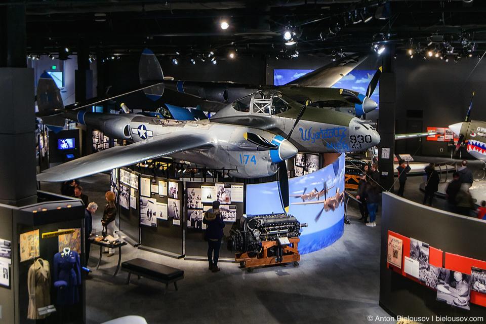 "Seattle Museum of Flight: 1944 Lockheed P-38L ""Lightning"""