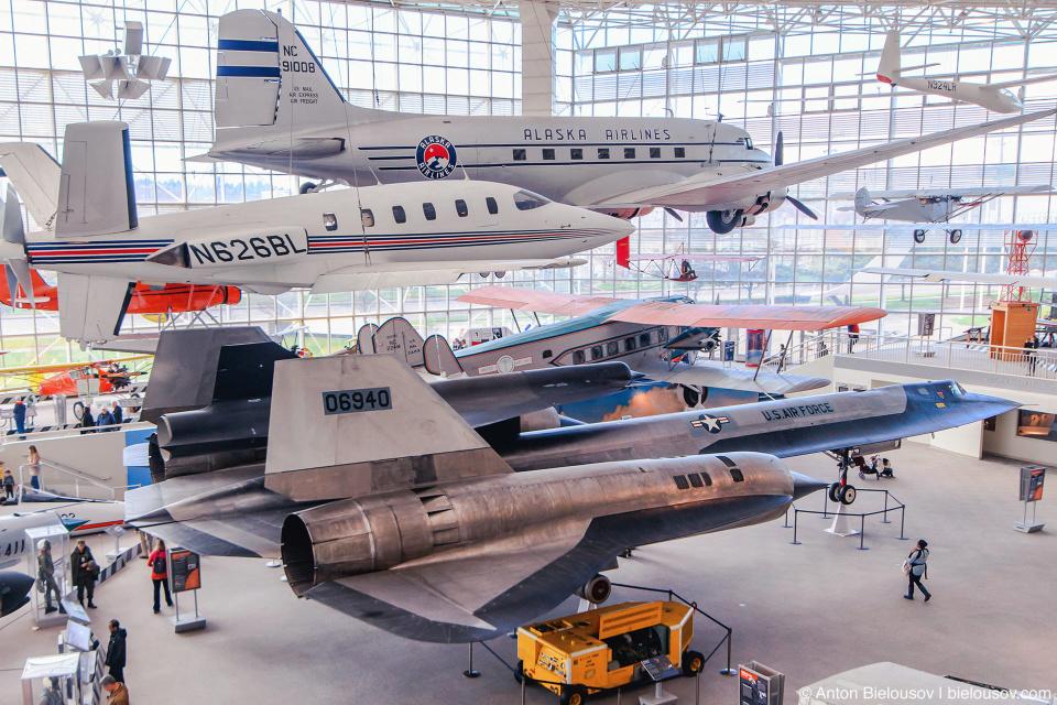 "Seattle Museum of Flight: 1963 Lockheed M-21 ""Blackbird"""